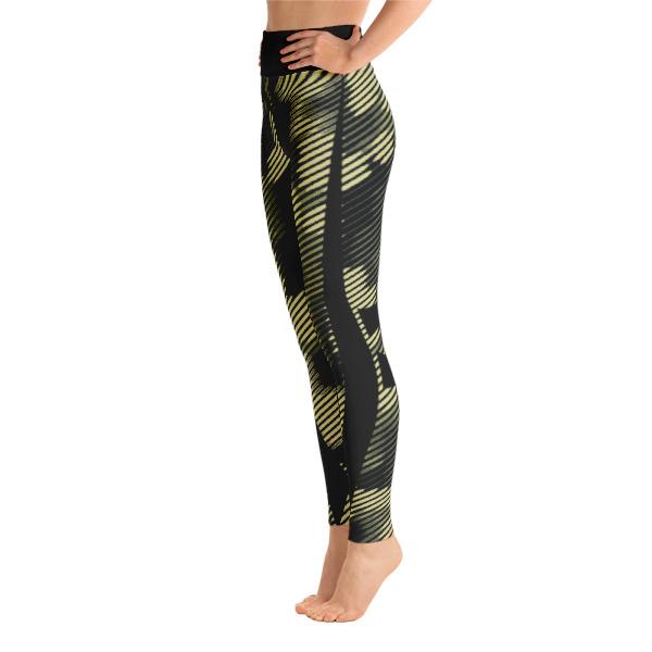 fd65ac02accb9 Patterned Camouflage Capri Green-Black Yoga Leggings - Buy Print ...
