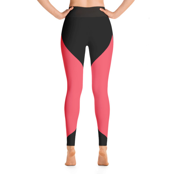 0595dd3119d10 Colorful Running Black - Pink Yoga Leggings - Buy Print Leggings ...