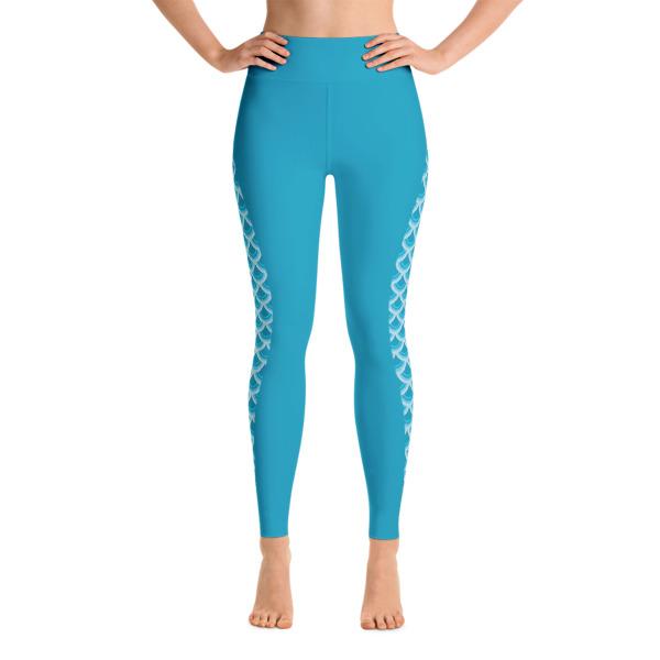 17995eff25 Patterned Mermaid printed on Blue Yoga Leggings - Buy Print Leggings ...