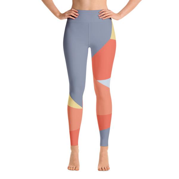 7d487768f7b0bb Colorful Running Gray - Orange Yoga Leggings - Buy Print Leggings ...