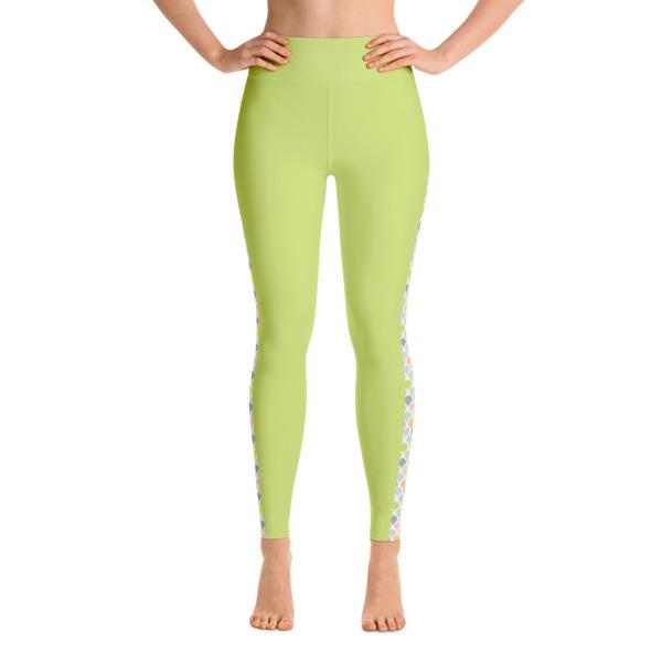 07235f5eb5 Mermaid Colored printed on Green Yoga leggings - Buy Print Leggings ...