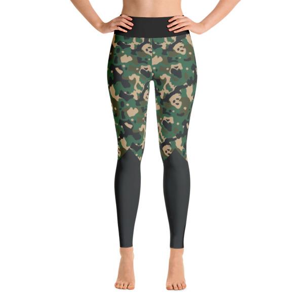d3869d7ba624a Patterned Black - Gray Athletic Camouflage Yoga Leggings - Buy Print ...
