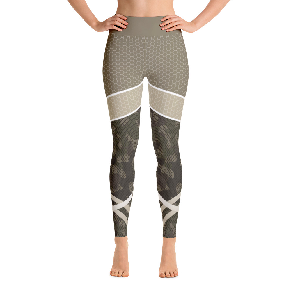 3135340b159a9 Camouflage Abstract Brown Workout Yoga Leggings - Buy Print Leggings ...
